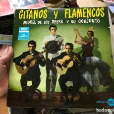 Dischi in vinile: MIGUEL DE LOS REYES Y SU CONJUNTO -- GITANOS Y FLAMENCOS ..LP DE 1969 DE REGAL ..UNICO UNA JOYA . Lote 79071857