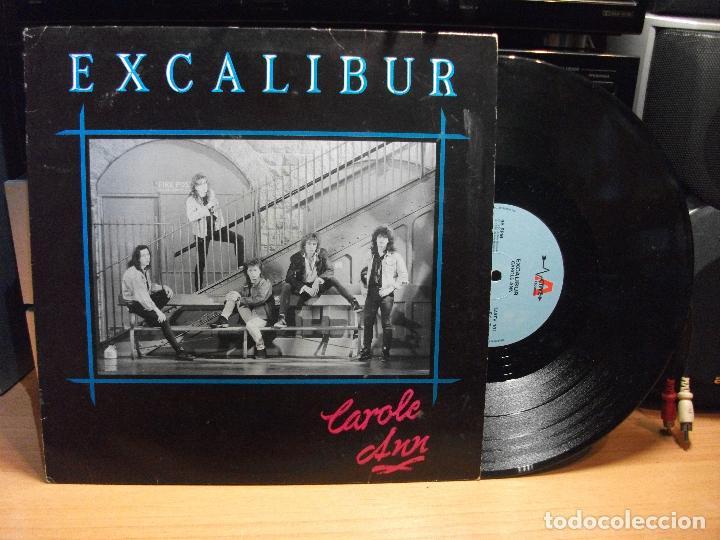 EXCALIBUR - CAROLE ANN - MAXI UK ACTIVE 1990 HARD ROCK HEAVY METAL PEPETO (Música - Discos de Vinilo - Maxi Singles - Heavy - Metal)