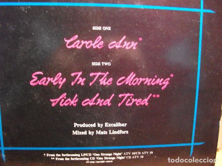 Discos de vinilo: EXCALIBUR - CAROLE ANN - MAXI UK ACTIVE 1990 HARD ROCK HEAVY METAL pepeto - Foto 2 - 79071905