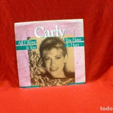 Discos de vinilo: CARLY SIMON - ALL I WANT IS YOU, YOU HAVE TO HURT, ARISTA AS1-9653, PROMO 1987, USA.. Lote 79082021