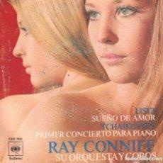 Discos de vinilo: RAY CONNIFF SU ORQUESTA Y COROS - LISTZ-TCHAIKOVSKY/ SINGLE CBS DE 1971 ,RF-1881. Lote 79096937