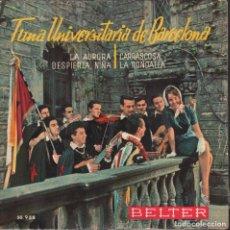 Disques de vinyle: TUNA UNIVERSITARIA DE BARCELONA / LA AURORA EP BELTER DE 1961 RF-1887. Lote 79098593