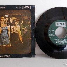 Discos de vinilo: THE ROLLING STONES - HONKY TONK WOMEN - SINGLE SPAIN DECCA MO 696 1969 VG++. Lote 79112717