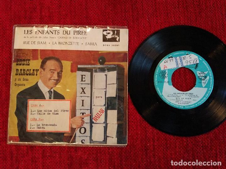 EDDIE BARCLAY. EP LES ENFANTS SU PIREE + 3 TEMAS (Música - Discos de Vinilo - EPs - Canción Francesa e Italiana)