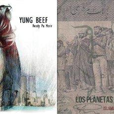 Disques de vinyle: 10PULGADAS LOS PLANETAS -ISLAMABAD/YUNG BEEF READY PA MORIR VINILO. Lote 158051666