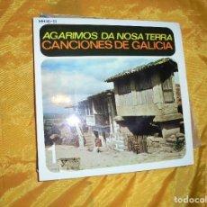 Discos de vinilo: AGARIMOS DA NOSA TERRA. CANCIONES DE GALICIA. EP. HISPAVOX 1959. IMPECABLE. Lote 79161965