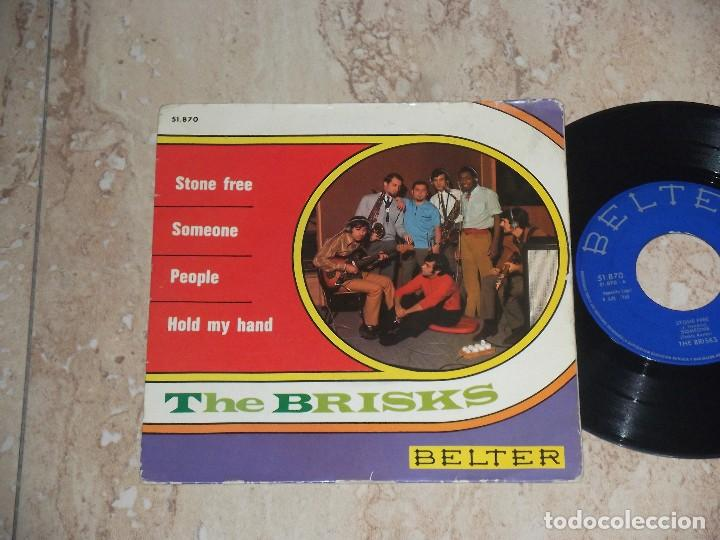 Discos de vinilo: THE BRISKS / STONE FREE/SOMEONE/PEOPLE/HOLD MY HAND EP 1968 BELTER FREAKBEAT PSYCH- - Foto 1 - 79172853