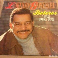 Discos de vinilo: LORENZO GONZALEZ, BOLEROS Y OTROS GRANDES EXITOS. 2LP. FONOMUSIC 1990.. Lote 79179797