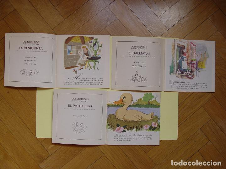 Discos de vinilo: 3 cuentodiscos: Cenicienta, 101 Dálmatas y El patito feo.(Walt Disney)Bruguera,1967-72.Vinilo Single - Foto 4 - 122284372