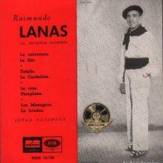 Dischi in vinile: RAIMUNDO LANAS - JOTAS NAVARRAS / LA CARRETERA / TAFALLA / LA ROSA / LOS MONEGROS...EP ODEON. Lote 79205813
