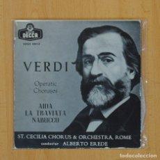 Discos de vinilo: VERDI - AIDA + 2 - EP. Lote 79293130