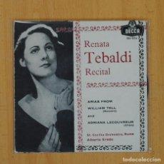 Discos de vinilo: RENATA TEBALDI - ARIAS FROM WILLIAM TELL / ADRIANA LECOUVREUR - SINGLE. Lote 79293149