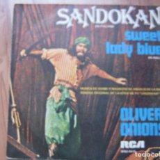 Discos de vinilo: OLIVER ONIONS BSO OST SANDOKAN ( EN ITALIANO) 1976 SG RCA GUIDO MAURIZIO ANGELIS . Lote 79496257