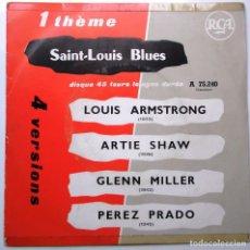 Discos de vinilo: LOUIS ARMSTRONG ''ST. LOUIS BLUES''4 VERSIONES DEL AÑO 1960 ES UN EP. Lote 79574085