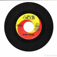 Discos de vinilo: SINGLE - WAYNE NEWTON - IF I ONLY HAD A SONG TO SING / SUNNY DAY GIRL - CAPITOL 1967 USA. Lote 79580841