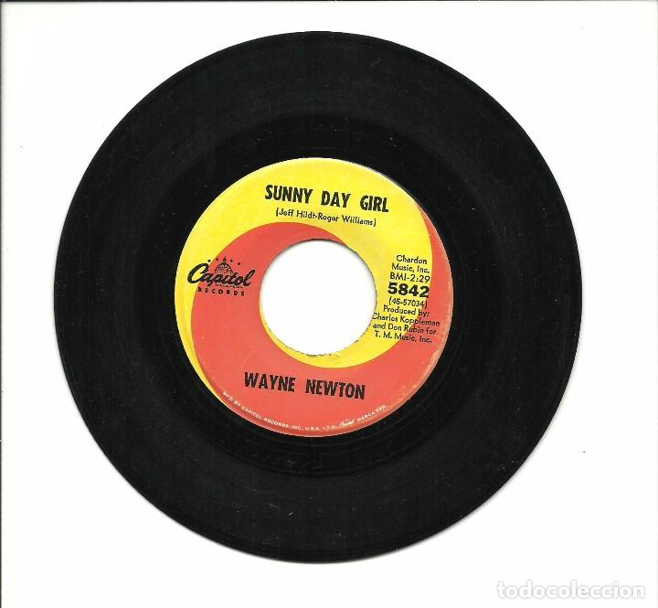 Discos de vinilo: SINGLE - WAYNE NEWTON - IF I ONLY HAD A SONG TO SING / SUNNY DAY GIRL - CAPITOL 1967 USA - Foto 2 - 79580841