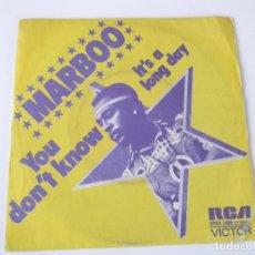 Discos de vinilo: MARBOO - YOU DON'T KNOW. Lote 79589485