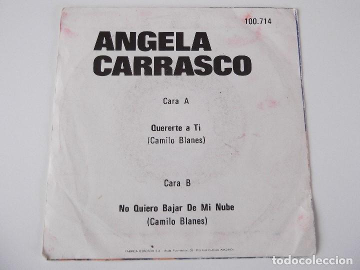 Discos de vinilo: ANGELA CARRASCO - Quererte a tí - Foto 2 - 79590997