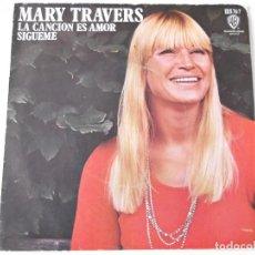 Discos de vinilo: MARY TRAVERS (DE PETER, PAUL & MARY) - LA CANCIÓN ES AMOR. Lote 79592249