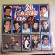 Discos de vinilo: JJ - LOS 20 PRINCIPALES CBS VARIOS ARTISTAS ORIGINALES DOBLE LP AÑO 1985. Lote 79594165