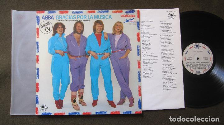 ABBA: LP GRACIAS POR LA MUSICA, EN ESPAÑOL,1980....FUNCIONANDO (Música - Discos - LP Vinilo - Festival de Eurovisión)