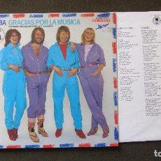 Discos de vinilo: ABBA: LP GRACIAS POR LA MUSICA, EN ESPAÑOL,1980....FUNCIONANDO. Lote 79600849