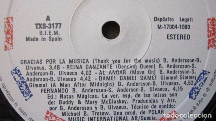 Discos de vinilo: ABBA: LP GRACIAS POR LA MUSICA, EN ESPAÑOL,1980....FUNCIONANDO - Foto 2 - 79600849