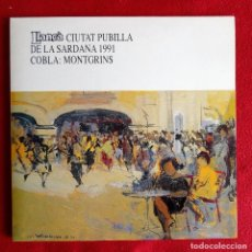 Disques de vinyle: LLANÇA CIUTAT PUBILLA DE LA SARDANA 1991 COBLA MONTGRINS LP OAR OE 002 . Lote 79602961