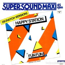 Discos de vinilo: FUN FUN - HAPPY STATION - SCRATCH VERSION - 1984 TELDEC - 6.20271 GERMANY COMO NUEVO. Lote 278879043
