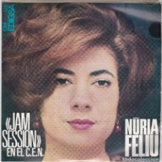 Discos de vinilo: SINGLE NÚRIA FELIU. JAM SESSION. 1966. SPAIN. (DISC PROVAT I EN ESTAT NORMAL, CARPETA BÉ). Lote 79651669