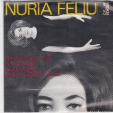 Discos de vinilo: SINGLE NÚRIA FELIU. ANIREM TOTS CAP AL CEL. 1965. SPAIN. (DISC PROVAT I EN ESTAT NORMAL, CARPETA BÉ). Lote 79652313