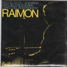 Discos de vinilo: SINGLE RAIMON. INICI DEL CÀNTIC.1966. SPAIN. (DISC PROVAT I EN ESTAT NORMAL, CARPETA BÉ). Lote 79653593