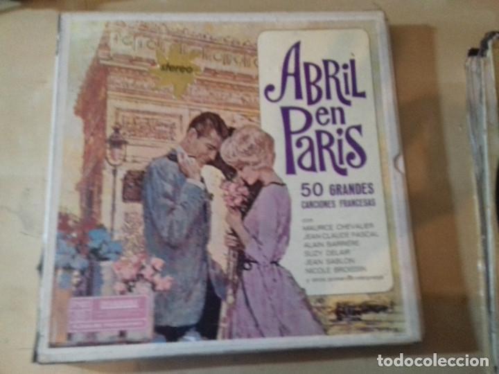 ABRIL EN PARIS 4 LP 50 GRANDES CANCIONES FRANCESAS-ESTUCHE DE CARTON-DYNAGROOVE-READER´S DIGEST (Música - Discos - LP Vinilo - Canción Francesa e Italiana)