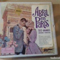 Discos de vinilo: ABRIL EN PARIS 4 LP 50 GRANDES CANCIONES FRANCESAS-ESTUCHE DE CARTON-DYNAGROOVE-READER´S DIGEST. Lote 79663261