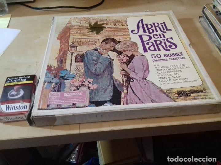 Discos de vinilo: ABRIL EN PARIS 4 LP 50 GRANDES CANCIONES FRANCESAS-ESTUCHE DE CARTON-DYNAGROOVE-READER´S DIGEST - Foto 2 - 79663261