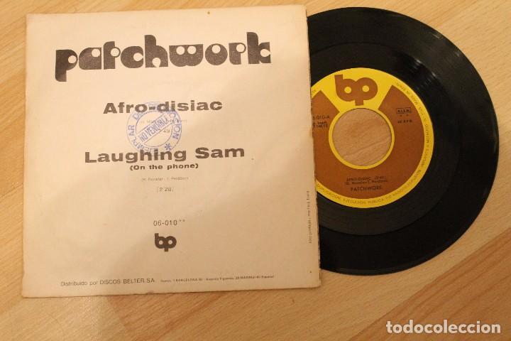 Discos de vinilo: PATCHWORK AFRO-DISIAC SINGLE 1972 LLEVA SELLO PROMOCIONAL - Foto 2 - 79666533