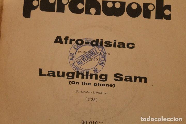 Discos de vinilo: PATCHWORK AFRO-DISIAC SINGLE 1972 LLEVA SELLO PROMOCIONAL - Foto 3 - 79666533