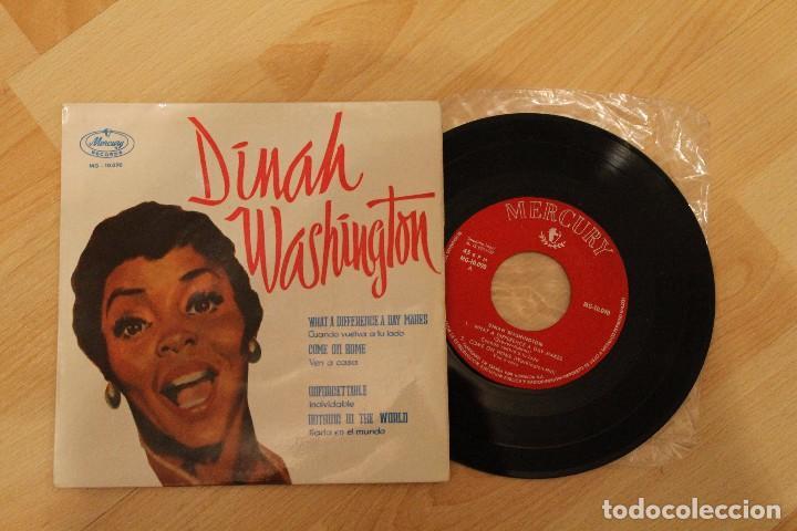 DINAH WASHINGTON WHAT A DIFERENCE A DAY MAKES MERCURY RECORDS 1959 EXCELENTE ESTADO (Música - Discos de Vinilo - EPs - Jazz, Jazz-Rock, Blues y R&B)