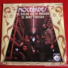 Discos de vinilo: MOCEDADES (SINGLE 1976) EL COLOR DE TU MIRADA - JUAN CARLOS CALDERON - AMAYA URANGA. Lote 79690761