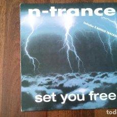 Discos de vinilo: N TRANCE-SET YOU FREE.MAXI ESPAÑA. Lote 79741537