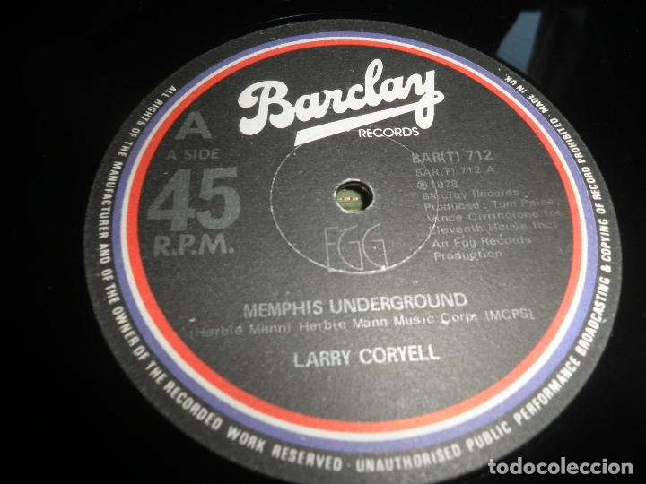 Discos de vinilo: LARRY CORYELL - MEMPHIS UNDERGROUND - MASI 45 RPM - ORIGINAL INGLES - BARCLAY 1978 - EGG - Foto 4 - 79753737