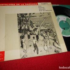 Discos de vinilo: ANTOLOGIA DE LA SARDANA GARRETA 1875-1925 COBLA LAIETANA JUNY/PASTORAL/LLICORELLA/+1 EP 1962 VERGARA. Lote 79766005