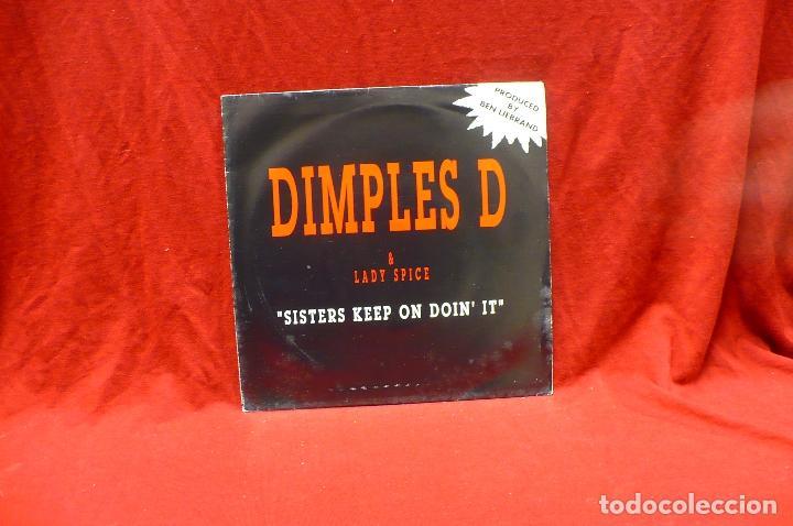 DIMPLES D & LADY SPICE - SISTERS KEEP ON DOIN' IT, PROMO 1 CARA, METROPOL RECORDS, 1992. (Música - Discos - Singles Vinilo - Rap / Hip Hop)