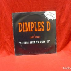 Dischi in vinile: DIMPLES D & LADY SPICE - SISTERS KEEP ON DOIN' IT, PROMO 1 CARA, METROPOL RECORDS, 1992.. Lote 79770285