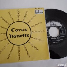 Discos de vinilo: NANETTE-EP NANA A SANDRO +2-1967-NUEVO. Lote 128157663