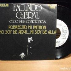 Discos de vinilo: FACUNDO CABRAL POBRECITO MI PATRON SINGLE SPAIN 1992 PDELUXE. Lote 79778929