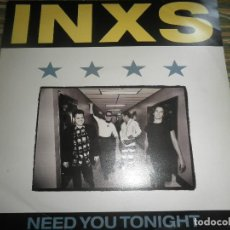 Discos de vinilo: INXS - NEED YOU TONIGHT - MAXI 45 R.P.M. - ORIGINAL INGLES - MERCURY RECORDS 1988 -. Lote 79788157
