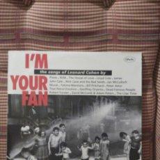 Discos de vinilo: I'M YOUR FAN THE SONGS OF LEONARD COHEN. Lote 79790729