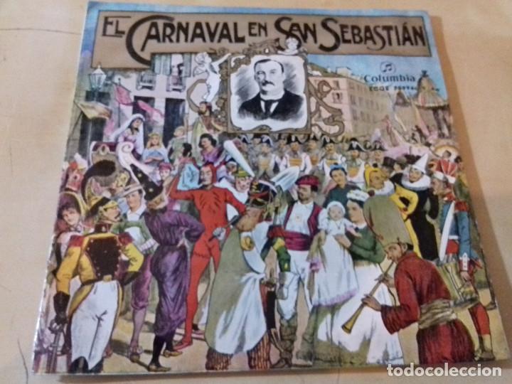 EL CARNAVAL EN SAN SEBASTIAN (SARRIEGUI) BANDA DE MUSICA (JOSE LUIS INDA) SINGLE COLUMBIA (Música - Discos - Singles Vinilo - Clásica, Ópera, Zarzuela y Marchas)