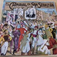 Discos de vinilo: EL CARNAVAL EN SAN SEBASTIAN (SARRIEGUI) BANDA DE MUSICA (JOSE LUIS INDA) SINGLE COLUMBIA. Lote 79797901